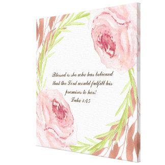 """""""Blessed é ela… """"impressão das canvas com grinalda"""