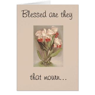 Blessed é eles esse cartão da lamentar-Simpatia