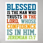 Blessed é o 17:7 de Jeremiah do verso da bíblia do Posteres