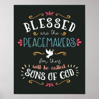 Blessed é o impressão da arte dos pacificadores