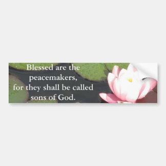 Blessed é os pacificadores, porque devem ...... adesivo para carro