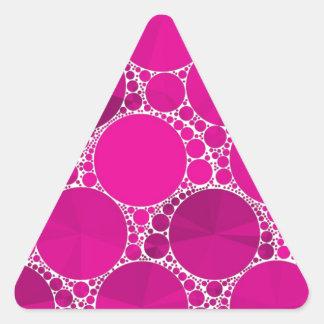 Bling cor-de-rosa fluorescente adesivo triangular