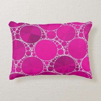 Bling cor-de-rosa fluorescente almofada decorativa