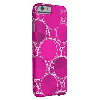 Bling cor-de-rosa fluorescente capa barely there para iPhone 6