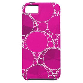 Bling cor-de-rosa fluorescente capa para iPhone 5