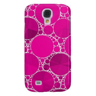 Bling cor-de-rosa fluorescente capas personalizadas samsung galaxy s4