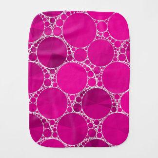 Bling cor-de-rosa fluorescente fraldinhas de ombro