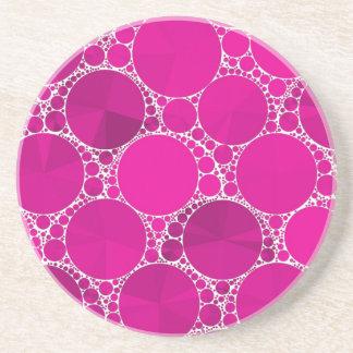 Bling cor-de-rosa fluorescente porta copos de arenito