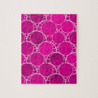 Bling cor-de-rosa fluorescente quebra-cabeças de fotos