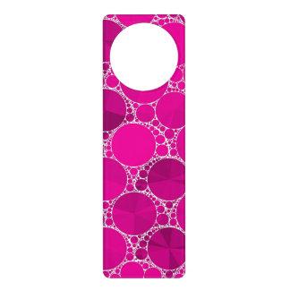 Bling cor-de-rosa fluorescente sinal para porta