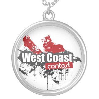 Bling West Coast Contest Colar Com Pendente Redondo