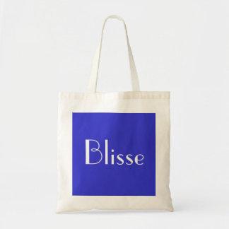 Blisse em azul e no branco III Bolsa Tote