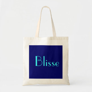 Blisse no azul mim sacola tote budget