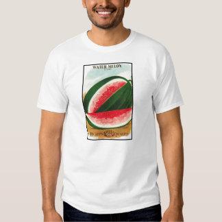 Bloco da semente do vintage da melancia de Dixie Camisetas
