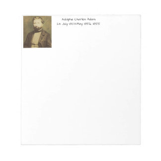 Bloco De Anotação Adolfo Charles Adam, 1855