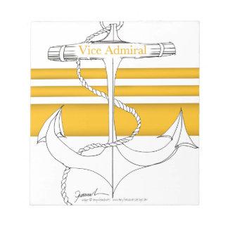 Bloco De Anotação almirante vice do ouro, fernandes tony