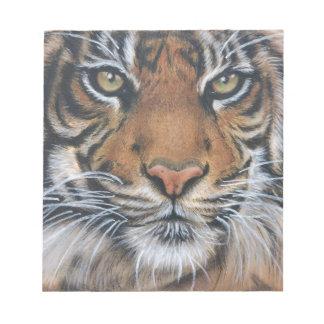 Bloco De Anotação Arte do animal dos animais selvagens do tigre