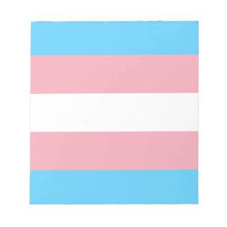 Bloco De Anotação Bandeira do orgulho do Transgender - arco-íris do