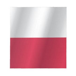 Bloco De Anotação Bandeira do Polônia
