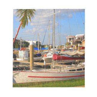 Bloco De Anotação Barcos no porto, Darwin, Austrália