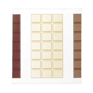 Bloco De Anotação Bares de chocolate