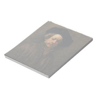 Bloco De Anotação Belas artes do retrato de auto de Rembrandt Van