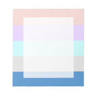 Bloco De Anotação bloco roxo da cor de azul cinzento da hortelã do