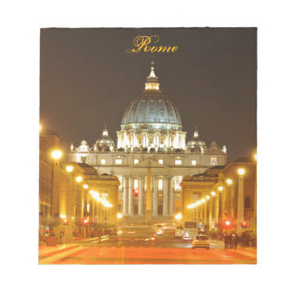 Bloco De Anotação Cidade do Vaticano, Roma, Italia na noite
