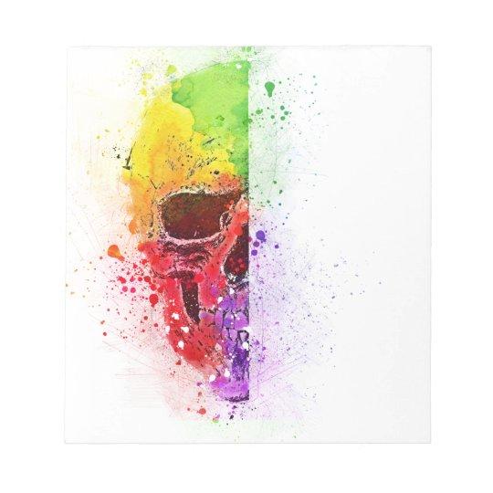 Bloco De Anotação Colorful Skull - Caveira Colorida
