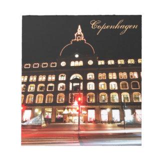 Bloco De Anotação Copenhaga, Dinamarca na noite