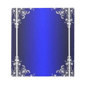 Bloco De Anotação Design azul do espelho