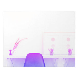Bloco De Anotação Estudo roxo da cadeira de Ombre da mesa de