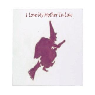 Bloco De Anotação Eu amo minha mãe em law1