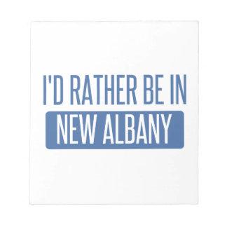 Bloco De Anotação Eu preferencialmente estaria em Albany nova