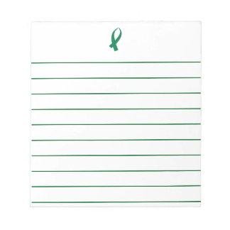 Bloco De Anotação Fita da consciência (verde)