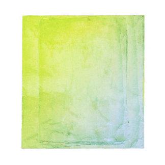 Bloco De Anotação Folhas da aguarela do verde azul
