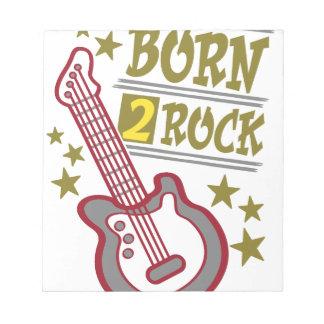 Bloco De Anotação Guitarra nascida da rocha, design do guitarrista