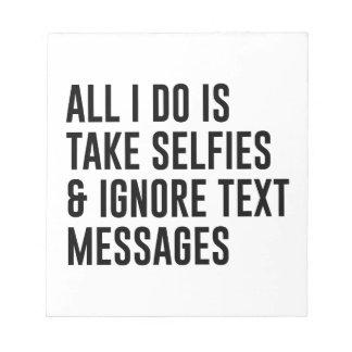 Bloco De Anotação Ignore textos