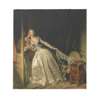 Bloco De Anotação Jean-Honore Fragonard - o beijo roubado - belas