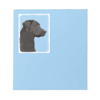 Bloco De Anotação Labrador retriever (preto)