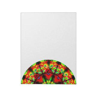 Bloco De Anotação Lado abstrato colorido da mandala
