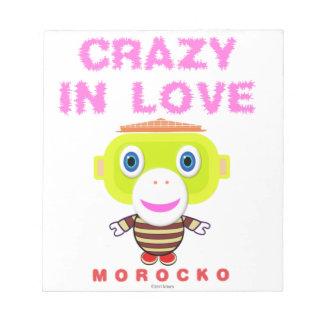 Bloco De Anotação Louco no Macaco-Morocko amor-Bonito