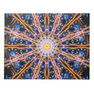 Bloco De Anotação Mandala da estrela da alquimia