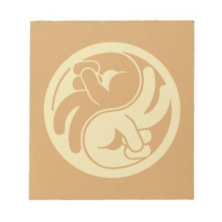 Bloco De Anotação Mão Yin Yang da paz