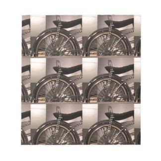 Bloco De Anotação O modelo gráfico do deco da arte da bicicleta do