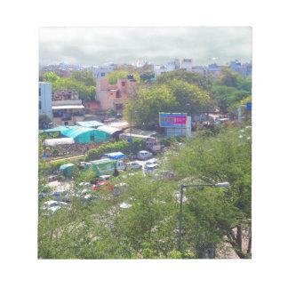Bloco De Anotação Opiniões do tráfego de Nova Deli India das