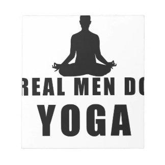 Bloco De Anotação os homens reais fazem a ioga
