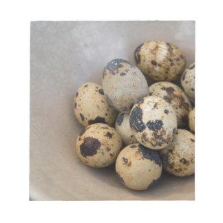 Bloco De Anotação Ovos de codorniz