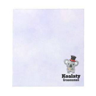 Bloco De Anotação Padrinho de casamento bonito de Koalaty da chalaça