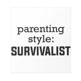 Bloco De Anotação Parentalidade do Survivalist
